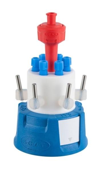 SafetyCapVI, V2.0, GL45, mit Absperrhahn