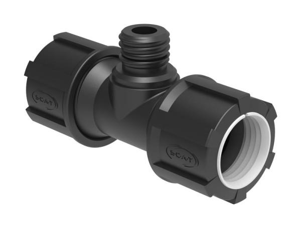 T-Stück, 2x (ID) 32 mm, 1x GL25 (m)