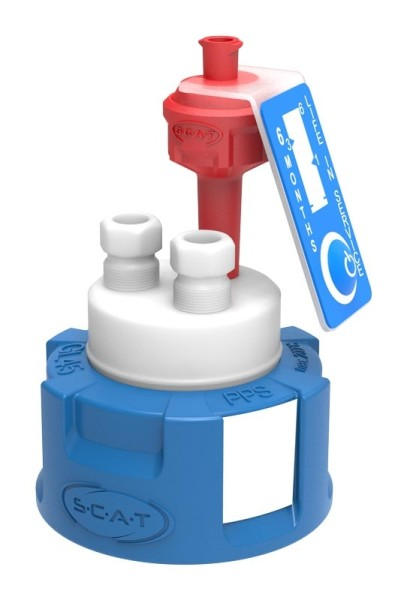 Safety Cap II, V2.0, GL45, präparativ, 2 PTFE