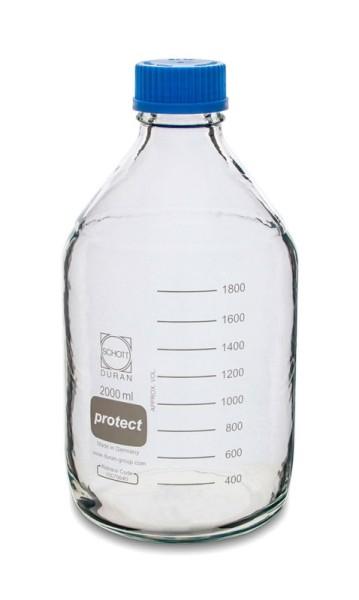 Laborflasche DURAN, GL45, 2 L, Typ 1